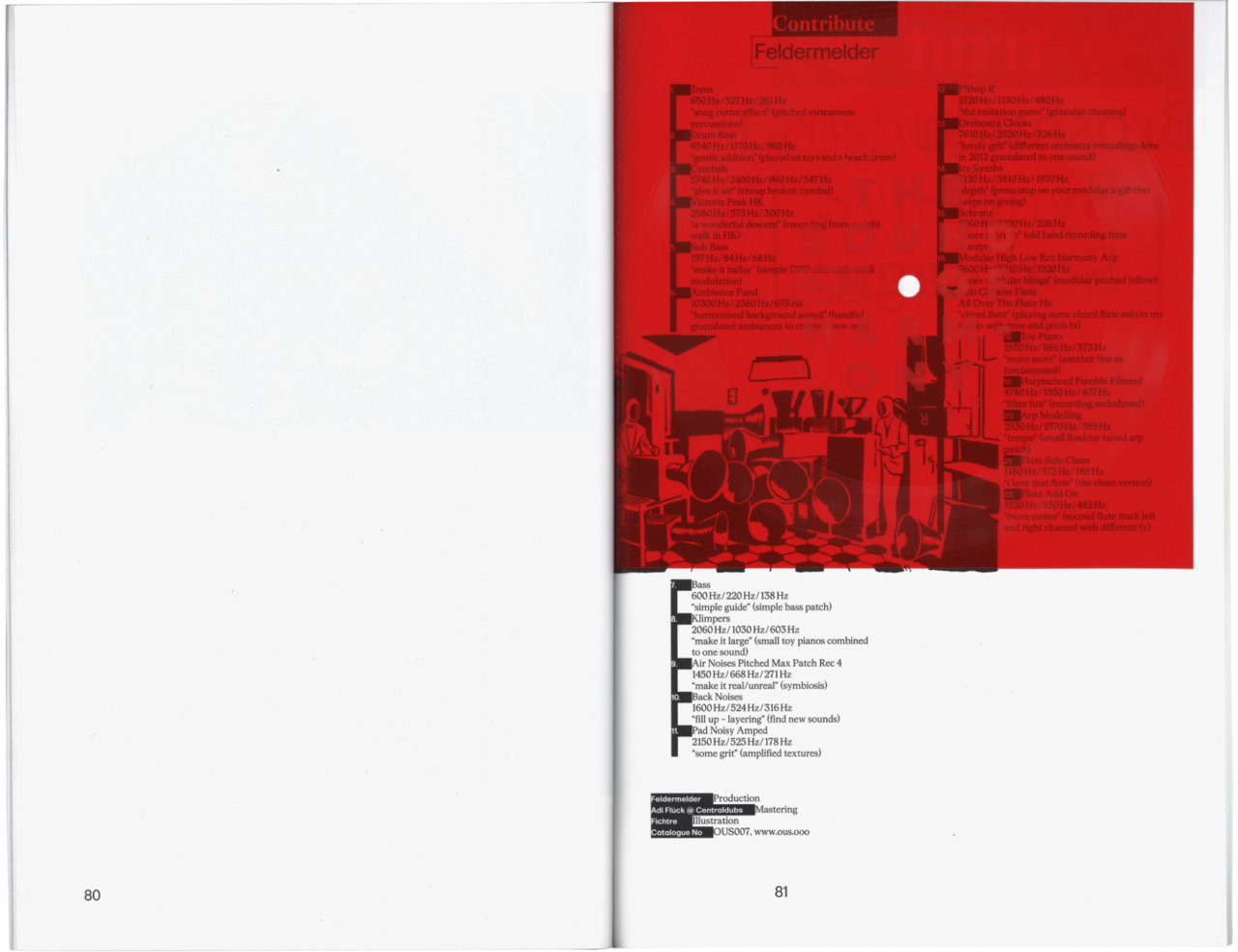 FICHTRE STUDIO - Mathias Forbach — OUS & ZWEIKOMMASIEBEN N°14: VINYL & ILLUSTRATION