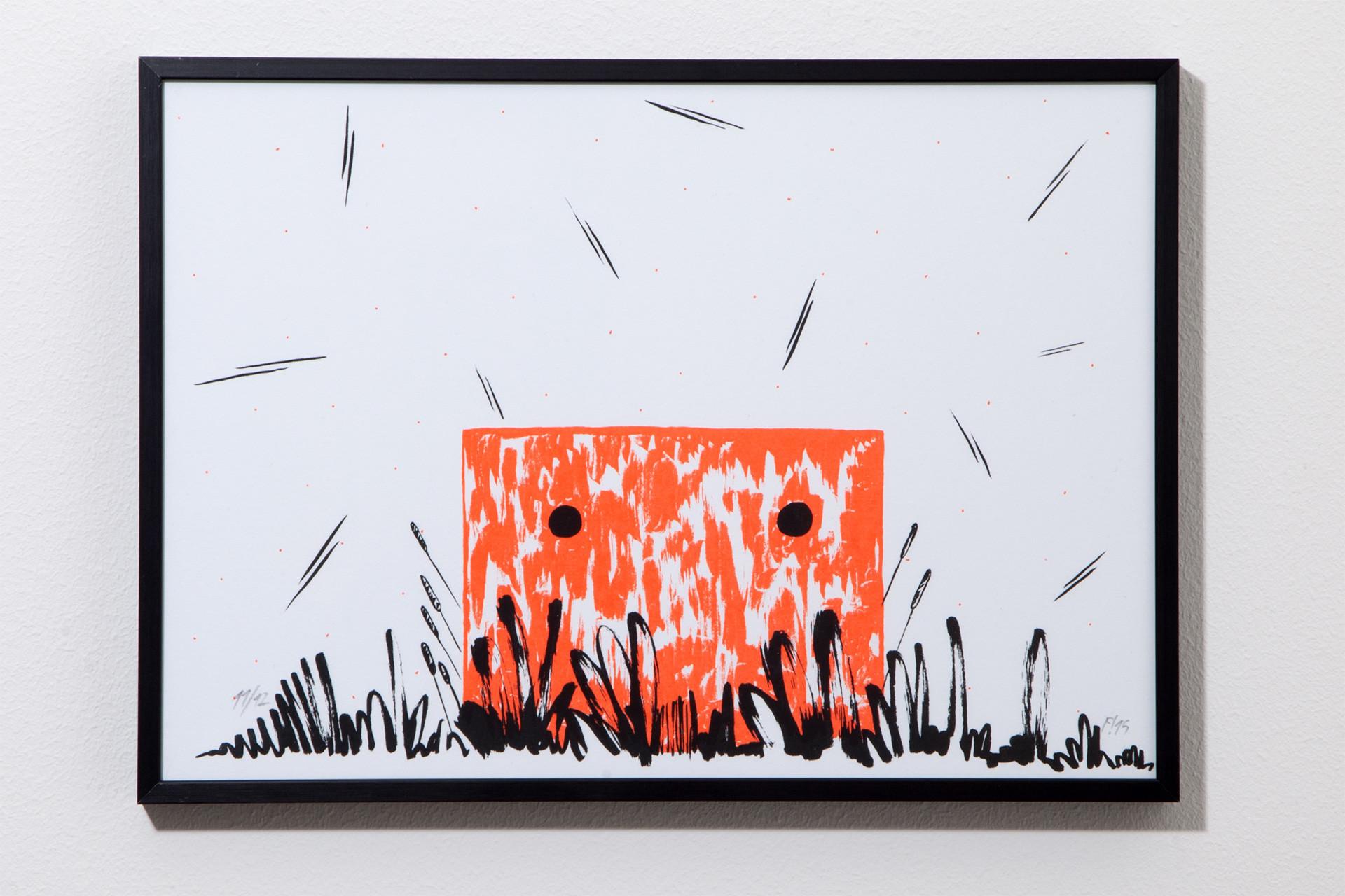 FICHTRE STUDIO - Mathias Forbach SÉRIGRAPHIE: «WILL'O'TIME»