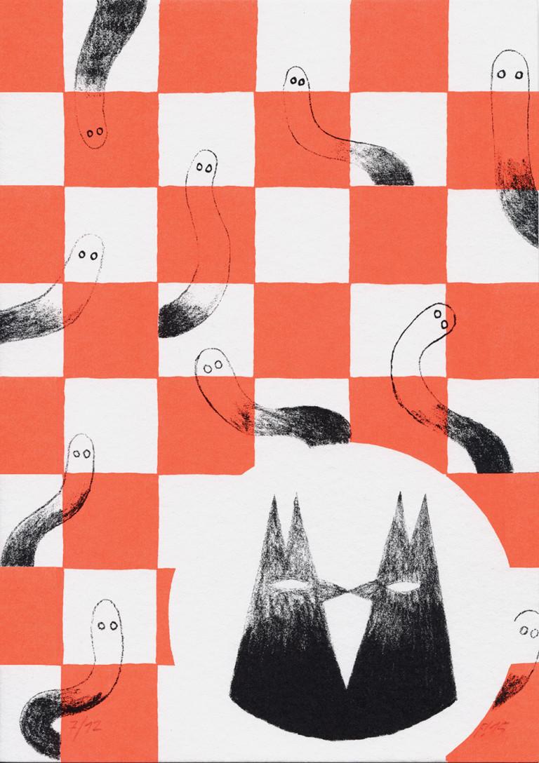 FICHTRE STUDIO - Mathias Forbach Sérigraphie: série «Will'O'Time»